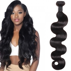 TD HAIR 1PCS Natural Color 1B# Body Wave Brazilian Remy Bundle Hair Extension Hair Weave Bundles 100% Human Hair Weaving For Black Women