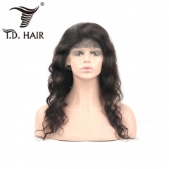 TD Hair Loose Wave Front Remy Wig 13x4 Transparent Lace Wigs 180% Density 1B# Natural Black Winter 10-28 Inches